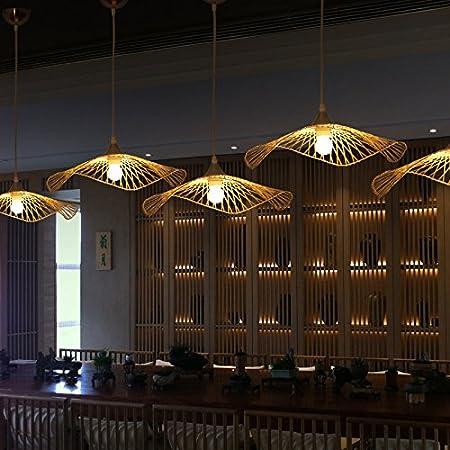 WINZSC Luces Colgantes del sudeste asiático Iluminación Creativa Escalera Restaurante japonés Bar té Chino Hecho a Mano lámpara en Forma de bambú LU718110 (Size : D75CM): Amazon.es: Hogar