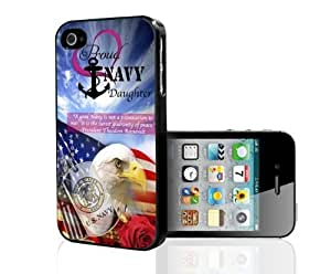 Proud Navy Daughter Hard Snap on Case (iPhone 4/4s)