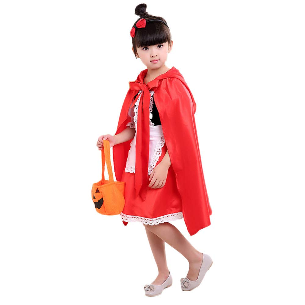 Printed Outfits Set,Lowprofile 2PCS Toddler Kids Baby Girls Halloween Clothes Costume Dress Party Dresses+Cloak