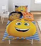 The Emoji 'Movie' Reversible Panel Single Bed Duvet Quilt Cover Set