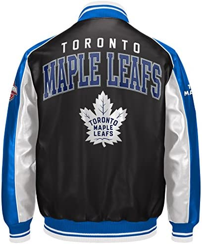 Toronto Maple Leafs Superstar Pleather Varsity Jacket Size X Large Jackets Amazon Canada
