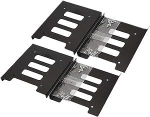 SSD Mounting Bracket 4 Pack, SNANSHI SSD Bracket 2.5 to 3.5 Adapter SSD HDD Metal Mounting Bracket Adapter Hard Drive Holder for PC SSD