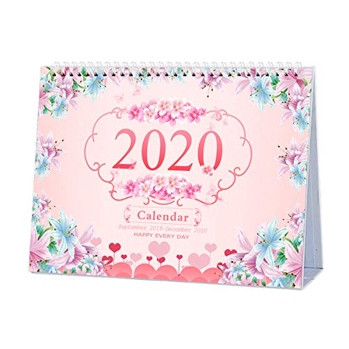 Desk Calendar 2020 Monthly, Daily Weekly Monthly Yearly Academic Calendar Planner for School Office, Runs from September 2019 Through December 2020, ...