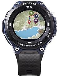 Casio Mens Pro Trek Outdoor GPS Resin Sports Watch, Color Black & Indigo Blue (Model WSD-F20A-BUAAU)
