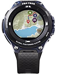 Men's Pro Trek Outdoor GPS Resin Sports Watch, Color Black & Indigo Blue (Model WSD-F20A-BUAAU)