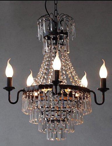 DXZMBDM® amerikanischen Land retro Restaurant Kerze Kristall-Lampe , warm white-220-240v