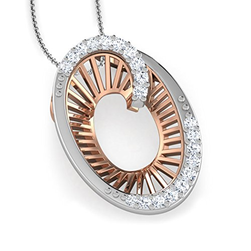 14 K Or rose 0.09 CT TW Round-cut-diamond (IJ | SI) Pendentif