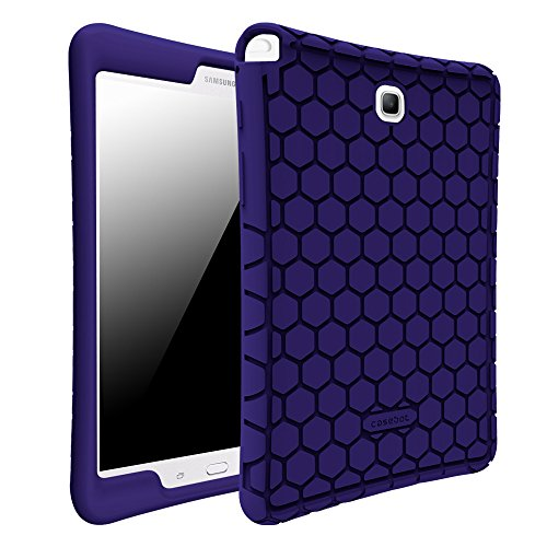 Fintie Samsung Galaxy Tab A 8.0 (2015) Case - Light Weight [Anti Slip] Shock Proof Silicone Protective Skin Cover for Samsung Galaxy Tab A 8-Inch Tablet SM-T350/T355/P350/P355,Navy