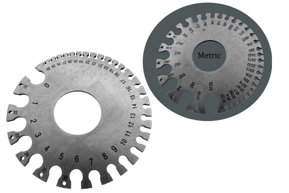 PRECISE Gauge for Sheet and Plate Iron and Steel, Also Measures Wire ...