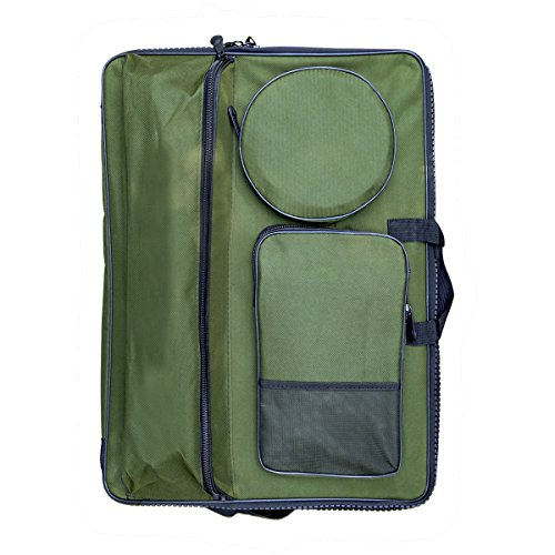 Transon Waterproof Art Portfolio Case and Artist Backpack Bag for Drawing Sketching Painting Art Supplies Size 26.8''x19.3'' Green Color by Transon