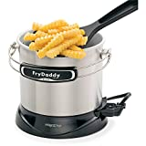 Presto FryDaddy Elite 4-Cup Electric Deep Fryer – Brushed Stainless Steel Exterior by Presto