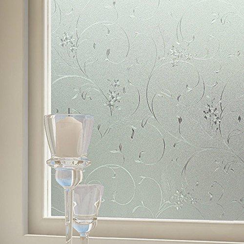 Amazon.de: Sichtschutz Frosted Statische Kein Kleber Home Schlafzimmer  Badezimmer Glas Fenster Film