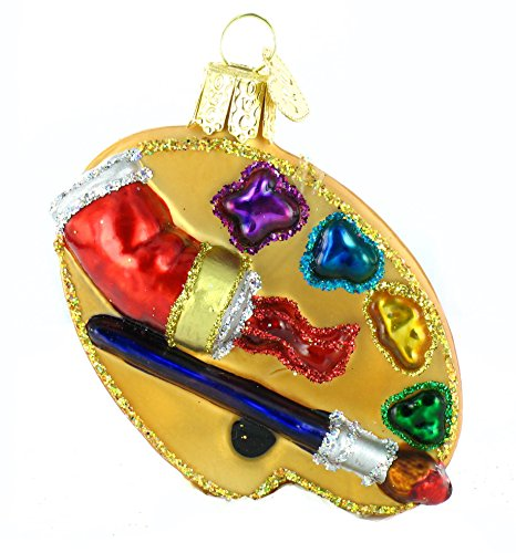 Old World Christmas Ornaments: Artist's Palette Glass Blown Ornaments for Christmas Tree