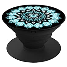 Smart Phone Expanding Stand and Grip, NOKEA Expanding Stand Holder Universal Finger Holder With Anti-fall Phone Air Sac Smartphone Desk stand Grip (Peace Mandala Sky)