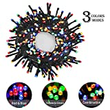 OUSFOT Christmas Fairy Lights Multicolor 300 LED String Lights with Plug 8 Modes for Chistmas Indoor Bedroom Wedding Tree
