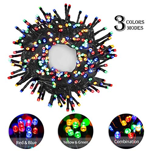 OUSFOT String Lights 300 LEDs 8 Modes with Memory 30ft Colorful Waterproof American Flag Lights for July 4th Independence Day Christmas Tree Party Wedding Bedroom]()