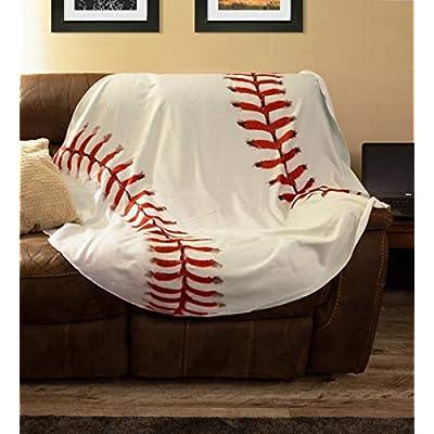 Realistic Novelty Lightweight Childrens Throw Sports Blanket (Baseball): Home & Kitchen