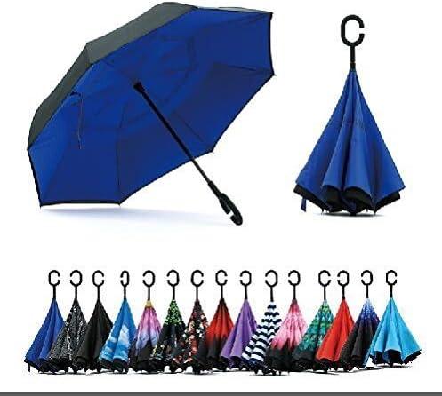 QIDIAN Mini Parapluie Compact Pliant Parapluie de Voyage Compact Coupe-Vent Bouton Poussoir enti/èrement Automatique Brolly Pluie Hiver pour Mini Cooper