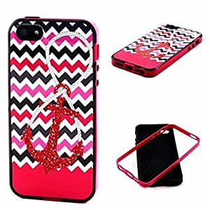 Anchor Pattern Back Case Cover for iPhone5/5S