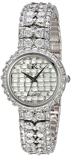 Adee Kaye Women's Quartz Brass Dress Watch, Color:Silver-Toned (Model: AK9701-L)