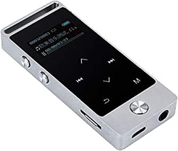 "KESOTO 8GB MP3 Player with 1.1"" OLED Touch Screen, Lossless Music Player Supports FM Radio Voice Recording - Silver, as described"