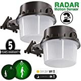 Motion Sensor Light Yard LED 35W Radar Sensor Barn Light Dusk to Dawn 150W Equivalent, Led Area Lighting Outdoor Yard Light 5000K Daylight White Auto On/Off, 5 Years Warranty, 2 Pack
