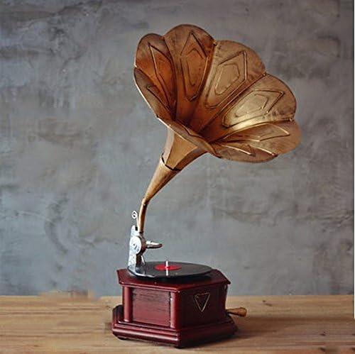 JE Envejecido diseño Vintage Hierro Forjado fonógrafo Tocadiscos ...