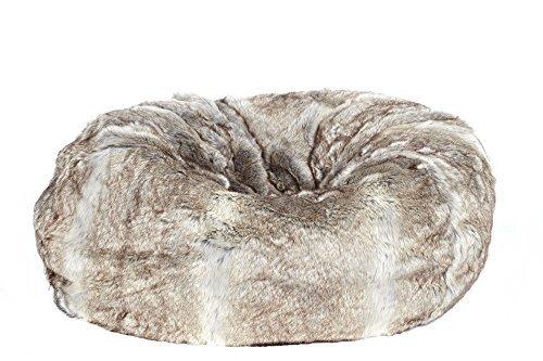 51pbz6AM%2BPL - CDI-FURNITURE-PF1024-Faux-Fur-Donut-Bean-Bag-Brown