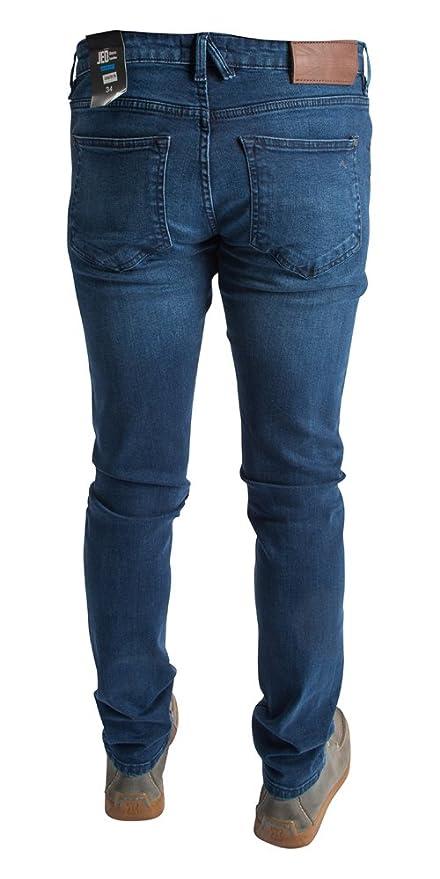 JED CK Mens Premium Designer Jeans Blue Indigo Denim Wash Skinny Fit - All  Waist & Sizes Jeans: Amazon.co.uk: Clothing