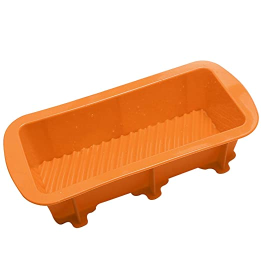 Molde rectangular de silicona para pan para tartas, antiadherente ...