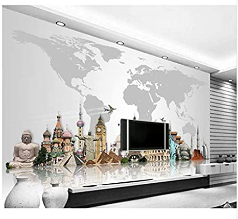 Mural de papel tapiz 3D Para Walls Murals de arquitectura de ...