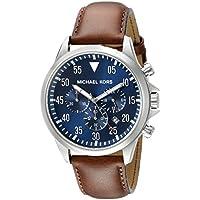 Michael Kors reloj cronógrafo, 45 mm, Marrón/Azul