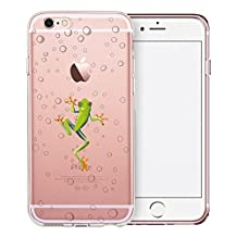 iPhone 6S Case, SwiftBox Cute Cartoon Clear Case for iPhone 6 6S (Frog)