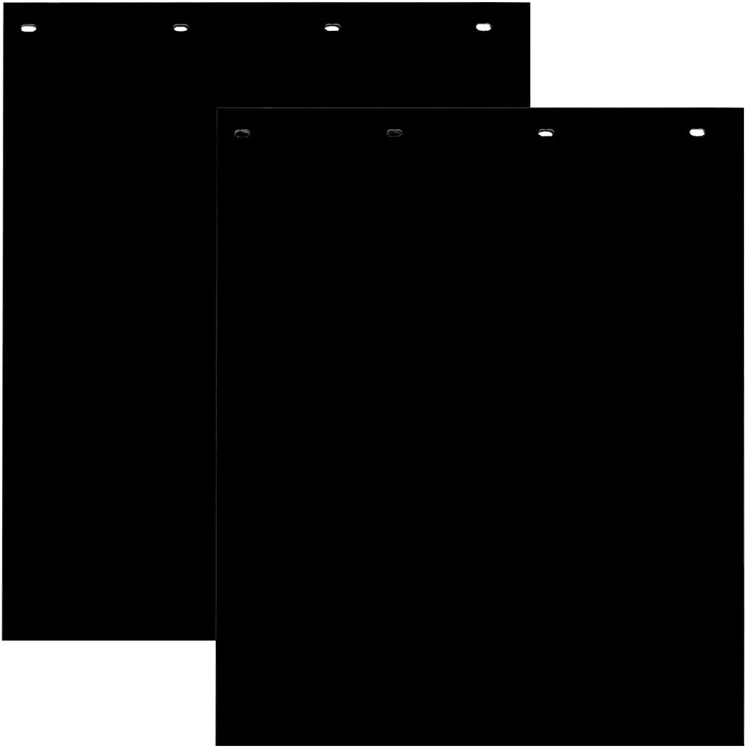 Buyers Products Polymer Semi-Truck Mud Flaps - Pair, 24in. x 30in. Black, Model Number RC30PPB