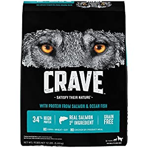 Crave Grain Free Adult Dry Dog Food With Protein From Salmon and Ocean Fish, 12 lb
