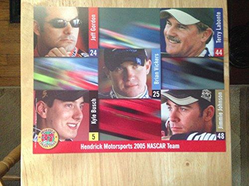 Hendrick Motorsports 2005 Nascar Team Poster