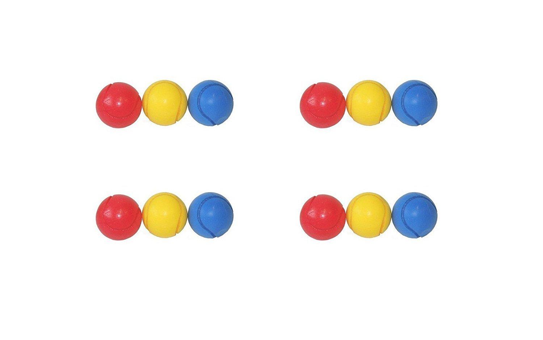 E-Deals, weiche Tennisbälle, 70 mm, inverschiedenen Farben, Pack of 12 Assorted Colours weiche Tennisbälle inverschiedenen Farben