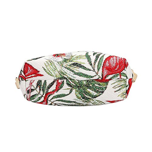 la cartera de Flamenco bandolera Signare tapiz honda bolso 6fAwtpP