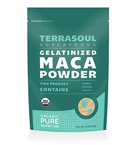 Terrasoul Superfoods Organic Gelatinized Maca Powder, 4 Ounce Pouch