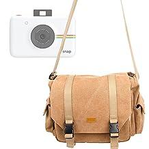 Sac en toile couleur sable pour Polaroid Snap et Pic 300, Fujifilm Instax Mini 70 et instax WIDE 300 appareil photo instantané et ses accesoires - modulable + capuche BONUS