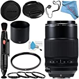 Fujifilm XF 80mm f/2.8 R LM OIS WR Macro Lens #16559168 + 62mm UV Filter + 77mm Macro Close Up Kit + Lens Pen Cleaner + Fibercloth + Lens Capkeeper + Deluxe Cleaning Kit Bundle