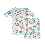 Burt's Bees Baby Baby Girls' Pajamas, Tee and Pant 2-Piece Pj Set, 100% Organic Cotton, Butterfly Buds Short Sleeve, 5T