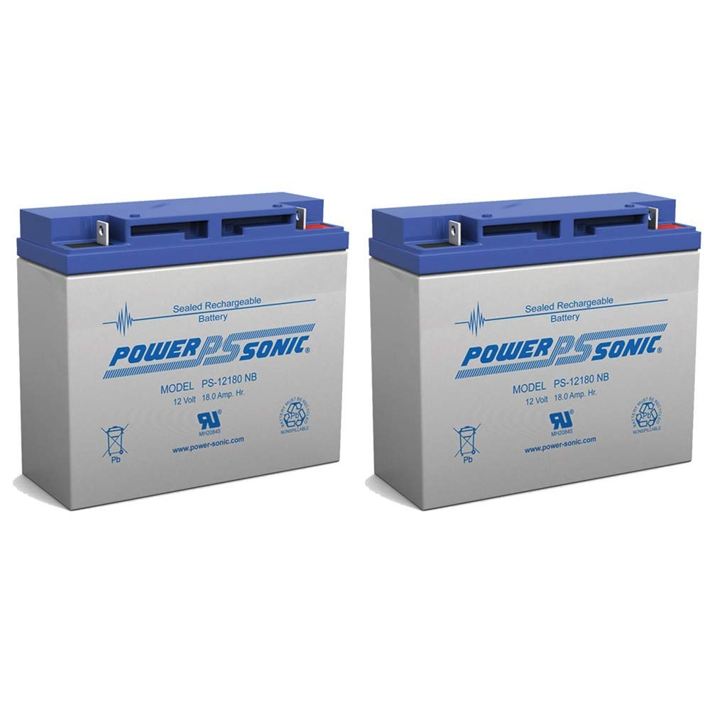 Powersonic 12V 18AH SLA Replaces Merits Travel-Ease Regal P120, P320-2 Pack by Powersonic (Image #1)