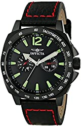 Invicta Watches Mens Specialty Genuine Leather Band Watch
