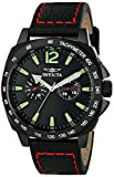 Invicta Men's 0857 II Collection Stainless Steel and Black Leather Watch