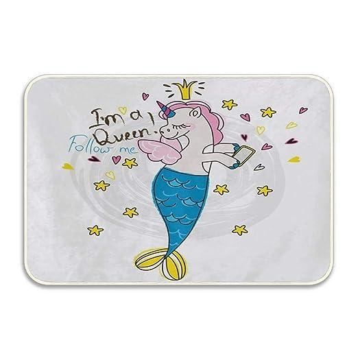 Milanto Funny Unicorn Mermaid Star Quotes Entrance Doormat Indoor ...