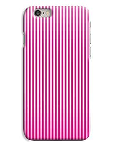 Fading Pink Stripe Womens Fashion Design iPhone 6 Plus Hard Case Cover
