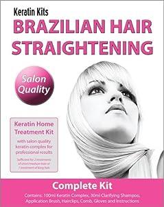 Brazilian keratin treatment home hair straightening kit 100ml complete kit beauty - Hair straightening salon treatments ...