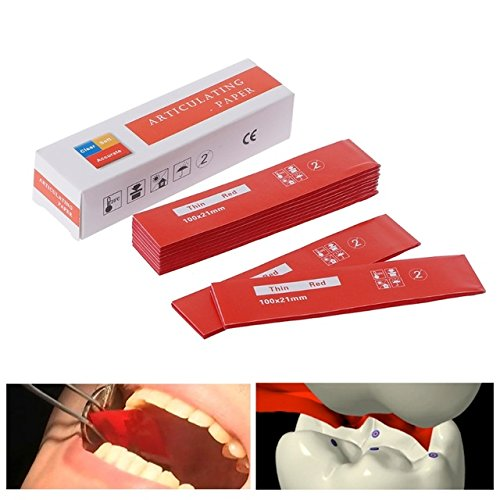 EXCEART Occlusal Paper Double Sided Articulating Paper Sheet Non Stick Oral Care Paper Strips Dentist Whitening Material for Home Store