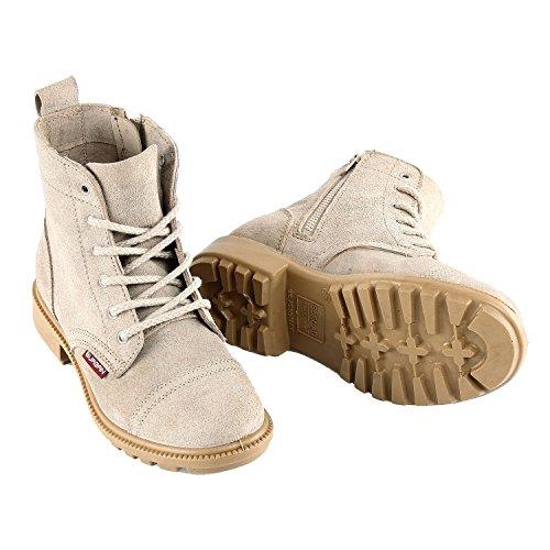 BURGAN 842 Short All Leather Desert Boot (Unisex) 40 (US Mens 7.5 / Ladies 8.5) Taupe (Genuine Ladies Suede Leather)
